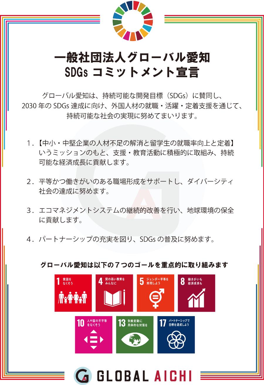 グローバル愛知 SDGs コミットメント宣言